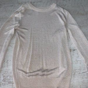 Pale pink sweater long sleeve glitter sparkle rose